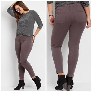 Maurice's jeggings slate gray brown